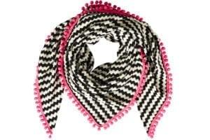 Tørklæde Tiles pink pom