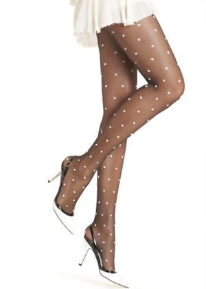 Oroblu Cloe Polka Dot Tights Black