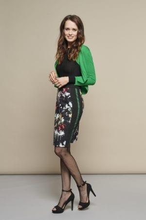 Paint blossom skirt