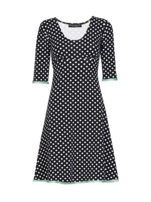 Stella dress dot Black/mint