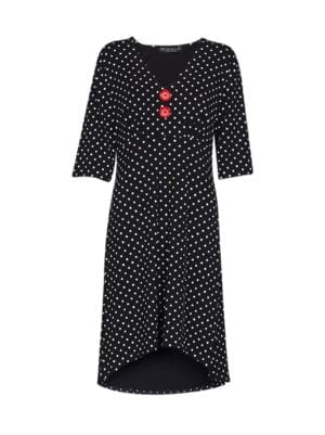 Pin-Up dress black dot m/æ