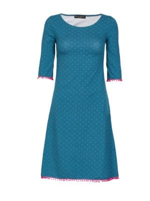 Agnes dress petrol dot