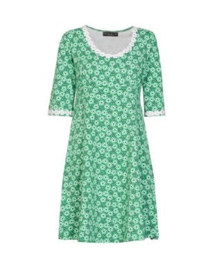 Yvonne dress Green flowers