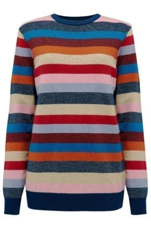 Poppy Bright Stripe Lurex Sweater