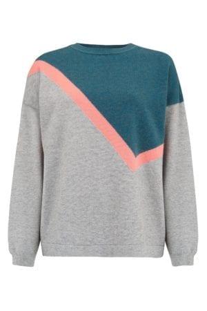 Roxy Grey Colour Block Boxy Sweater