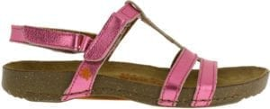 Art sandal I BREATHE metallic magenta