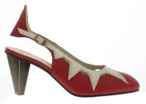 Fly London Abi slingback red