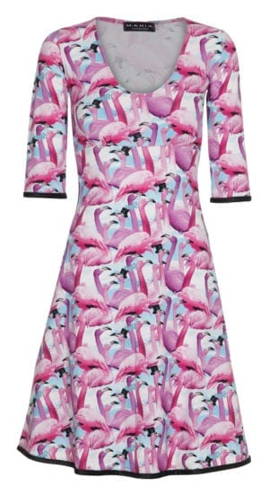 Stella Dress Pink Flamingo