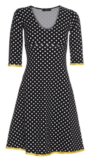Stella Dress dot black/yellow