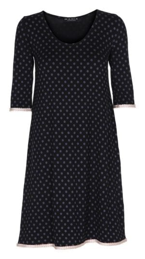 Alice Dress Black/Rosa Dot