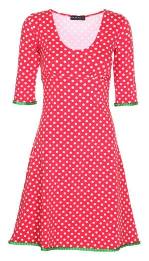 Stella Dress dots Red/green