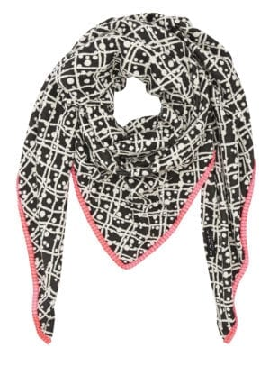 Tørklæde krims grå/pink
