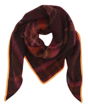 Mohair tørklæde rød/orange