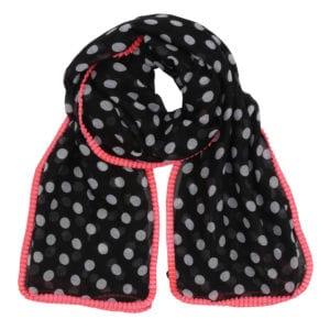 Tørklæde Big Dot Black Pink