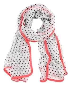 Tørklæde Microprik hvid/pink