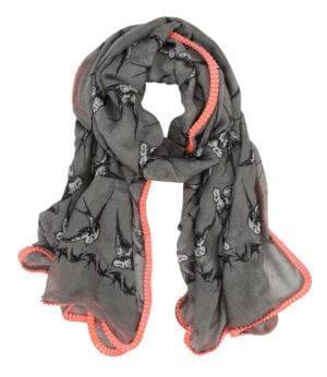 Tørklæde swallow grå/pink