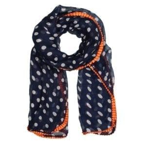 MANIA Tørklæde Blue/orange dot