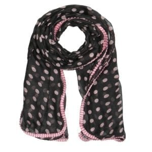 MANIA Tørklæde Grey/rose dot