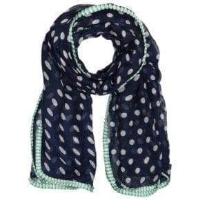 MANIA Tørklæde Blue/mint dot