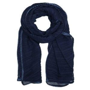 MANIA Tørklæde Pliss total Blue