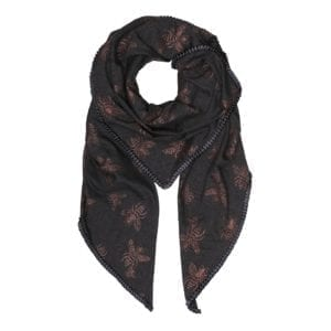 Oversize Scarf Grey/grey Insect