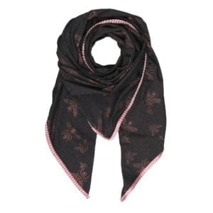 Oversize Scarf Grey/rose Insect