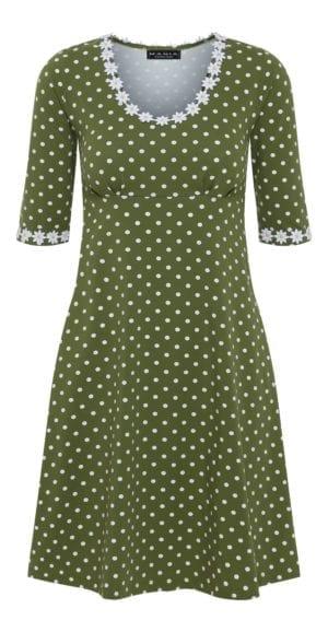 Yvonne dress dot olive