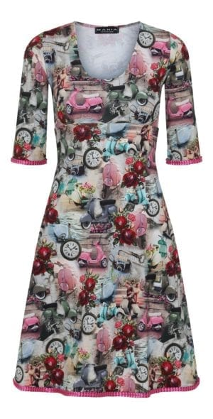 Stella Dress pink Vespa