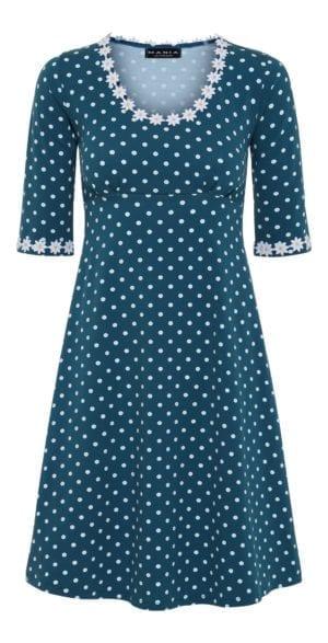 Yvonne dress dot petrol