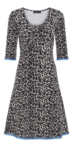 Stella Dress Leopard/blue
