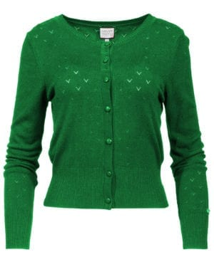 Cardigan-Dressed up green