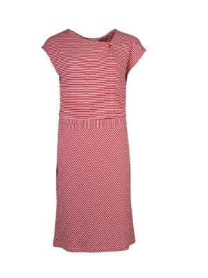 WTG Oblique dress red stripe